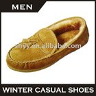 2011 popular style loafer shoes genuine leather loafers for men