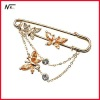 Free shipping new design with crystal MT12021037 brooch pin