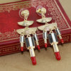 Fashion hot sale delicate individual alloy sexy lipstick drop earring