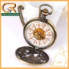 Antique Style Steampunk Hollow Mechanical Pocket Watch D01201o