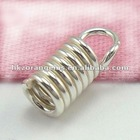 3*8mm 925 sterling silver spring end cap for jewelry