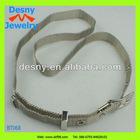 2012 new men fashion costume accessory jewelry long metal mesh belt design adjusted silver tone waist belt