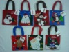 Felt christmas icon gift bag