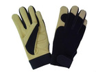 Mechanic Gloves With Silicon Rubber Patched Palm
