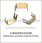 Brass And Iron Four pins parts for zipper,zipper garment accessories,