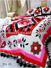 cotton hand made embroidered bedding set,luxurious