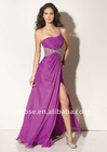 PD-010 Beaded One-Shoulder Bare Back Prom Dress