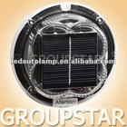 Round LED Dock Light with Solar Panel