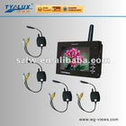 Fashion little 3.5 inch Wireless USB 5pins DC in jack CCTV monitor