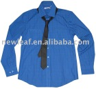 men's long sleeve solid shirts with a tie