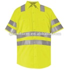 Hi-Visibility yellow Safety Work Shirt - Class 3 Level 2