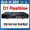8ch Full D1 realtime h.264 digital video recorder system