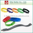 Silicone bracelet usb crystals bracelet usb drive/bracelet usb flash