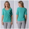 Womens Diagonal Ruffle Top TP1622