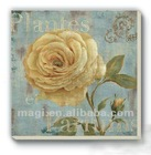 Antique Flower Style Wood Souvenir Fridget Magnet