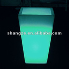 Plastic led flower pot with 16 colors tall shape big size