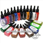 Tattoo Inks Pigment complete set of 20 Color 1/2 oz(15ml)