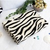 Coral Fleece Throw Blanket Animal Zebra