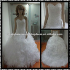 2013 New Arrival Organza A-line White Wedding Dress Bridal Gowns Real pics RP-01