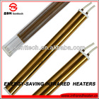 gold plated quartz energy efficient infrared drying heater lamp