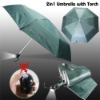 2 in 1 umbrella with torch