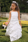 Floor length Taffeta flower girl dress (CBF10001)