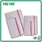 promotional gift / high quality pink diary, leather or PU or fabric cover notebook in A4/A5/A6 size