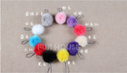 Promotion,lovely ball,fox fur key chain,multi-chain,softly and beautiful.