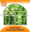 Round top sliding aluminum window