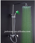 2011 good quality bathroom top led rain shower set