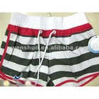 Fashion Striped Women Beach Shorts