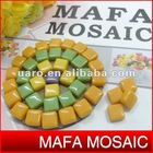 italian carraro bianco venato jade DIY pattern material solid glass mosaic
