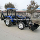 4wd 40hp tractor with front end loader and bachoe