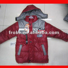 kids boys news designer winter jacket with fur wool