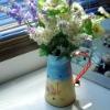 European modern rural style, wrought iron vase/ flower tub/kettle, wrought iron hand draw vase