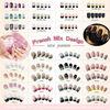 Patterned acrylic nail tips& Fashion French nail tips