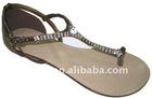 flat women roman rhong sandals 2011