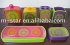 6 pcs/set hot poly bathroom set wholesale