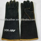 Black leather Mig gloves