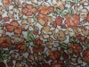 100% rayon voile flower printed fabric
