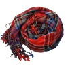 Fashion colorful Plaid with long fringe Viscose tassel scarves