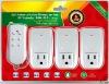 3ch intelligent wireless plug in remote control (ZABP-3)