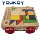 wooden baby walker building block