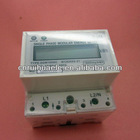 Single phase Two wires Electronic 4 pole LCD display DIN-rail Active Energy Meter