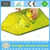 Good sale and easy to clean silicone index chopping board