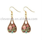 Tear Drop Designed Cloisonne Earrings