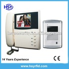 "3.5"" TFT LCD Hot Cheap color video door phone with Luxury aluminum camera"