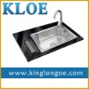 Rectengular,304 stainless steel,single bowl,kitchen sink with faucet
