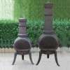 Cast chimenea with grape pattern