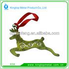 OEM zinc alloy deerlet hanging ornament for christmas
